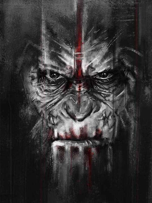 《猩球黎明》饭制海报赏 - 《猩球崛起:黎明之战》